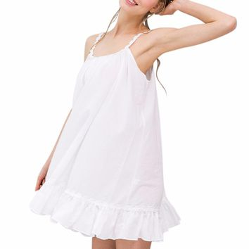 Sexy Women 's Cotton Loose Sleep Dress Sleepwear For Women With Sexy Lingerie