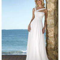 V-Neck Backless/Open Back New Style Wedding Dresses For Beach Wedding [WD-138] - AUD $290.20 :