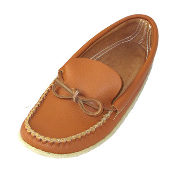 Men's Crepe Sole Genuine Leather Moccasins - 089