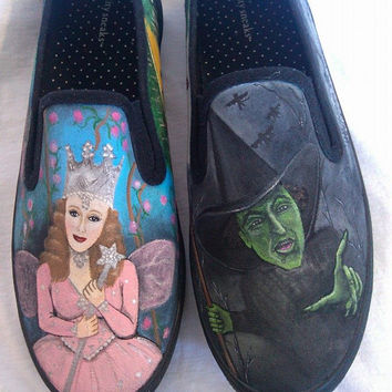 Custom Hand Painted Wizard of Oz shoes.