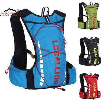Outdoor Sport Bag 10L Professional Cycling Bicycle Bike Backpack Packsack Running Backpack Fishing Vest Bag Hydration Pack LK508