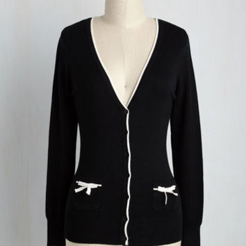Flawlessly Polished Cardigan in Black