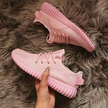 Fashion Adidas Women Yeezy Boost Sneakers Running Sports Shoes Pink