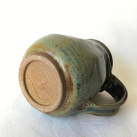 Faceted Coffee Mug, Ceramic Coffee Mug, Wheel Thrown Mug FCTJUL17M8 15 OZ