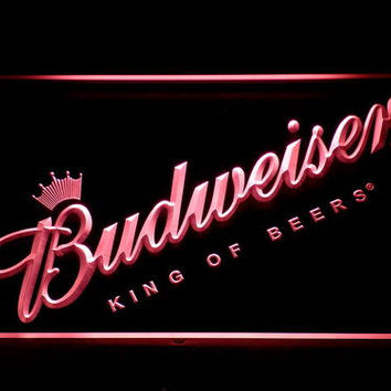 Budweiser Beer Bar LED Neon Sign with On/Off Switch 7 Colors to choose Sent in 24 hrs