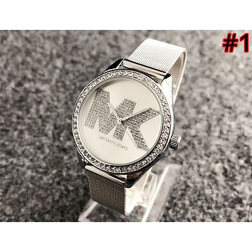 MK 2019 new street fashion simple waterproof men and women quartz watch  1 b09e478715