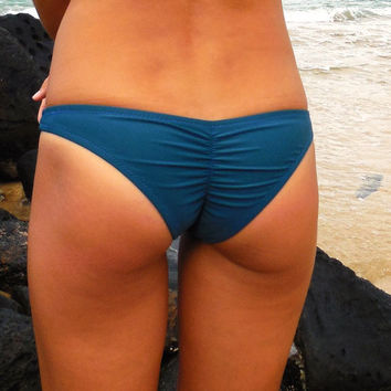 Scrunch Bum Bottoms- Dark Teal
