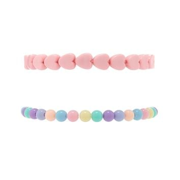 Rainbow Heart Bracelet Set