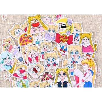 Cute Japan Cartoon Anime Sailor Moon mini decor Hand book paper sticker 33pc/lot