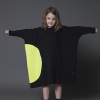 Nununu Circle Box Dress in Black - NU0840