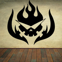 Gurren Lagann Wall Decal Kamina Wall Art Vinyl Wall Sticker Anime Wall Decal Choose A Size