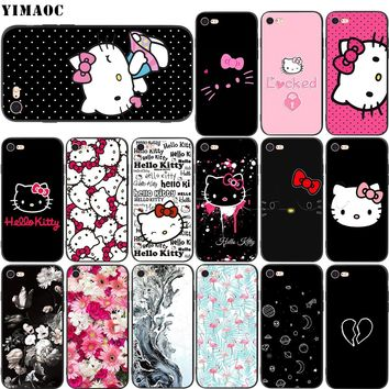 YIMAOC Hello Kitty Soft Silicone Case for iPhone XS Max XR X 8 7 6 6S Plus 5 5s se
