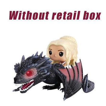 Funko Pop Action Figure Game of Thrones Daenerys Riding Dragon Monster Model Toy