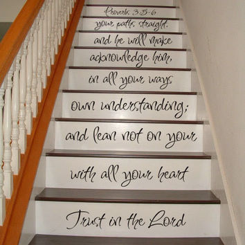 Proverbs 35:6 Bible Staircase Decal