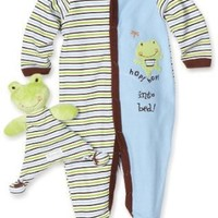 Vitamins Baby-boys Newborn Frog Sleep and Play with Blankie Buddy