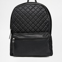 New Look Leather Look Backpack With Quilted Detail