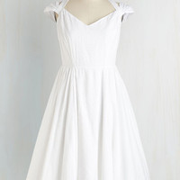 ModCloth Mid-length Cap Sleeves Fit & Flare Ladylike a Dream Dress