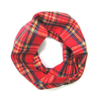 Red Plaid Kid Scarf Flannel Scarf Kids Unisex Scarf Child Winter Scarf Kid Holiday Scarf Baby Bib Scarf Blue Yellow Ready to Ship