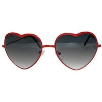 Lolita Heart Shaped Wire Rimmed Sunglasses, Be My Valentine!