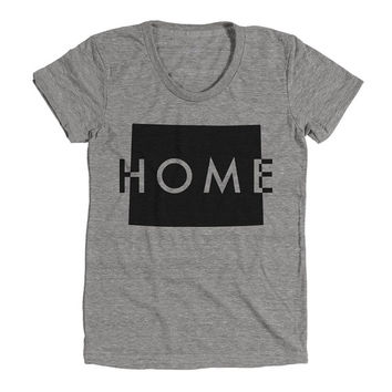 Wyoming Home Womens Athletic Grey T Shirt - Graphic Tee - Clothing - Gift