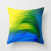 Feathers Throw Pillow by Sierra Christy Art