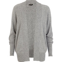 River Island Womens Grey unfastened dolman cardigan