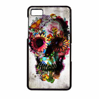 Floral Sugar Skull BlackBerry Z10 Case
