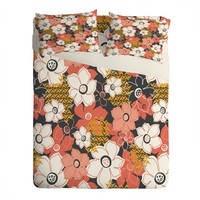 Heather Dutton Petals And Pods Lava Sheet Set Lightweight