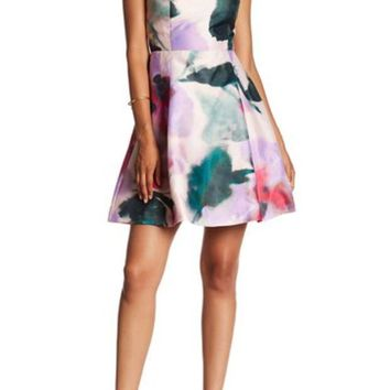 DCCKHB3 Rachel Rachel Roy | Taffetta Fit & Flare Dress