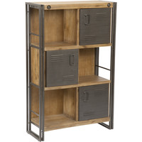 Miller Lake Large Acacia Shelf with Doors