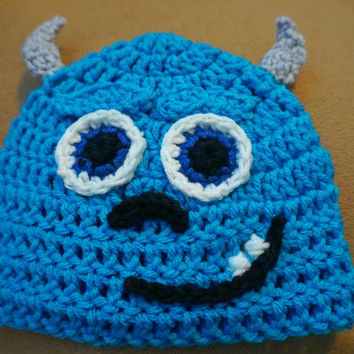 Monsters Inc inspired Sully crochet hat