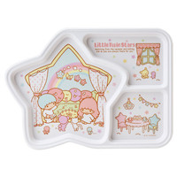 Little Twin Stars Kiki Lala Melamine Divided Plate Window SANRIO JAPAN