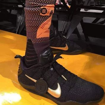 kobe 11 elite fade to black  number 1