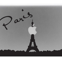 Paris Skyline Macbook Decal With Writing / Macbook Sticker / Laptop Decal