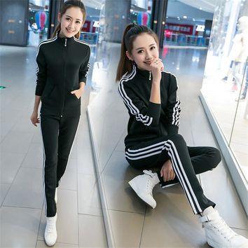 2018 Hot Sale young Lady Tracksuit Women Sweatshirt +Pant Track suit 2 Piece Set Sporting Suit for women autumn suit sets