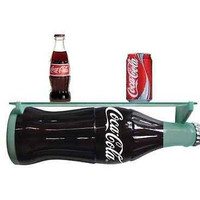 COCA COLA 3D Glass Coke Soda Bottle Shaped Wall Shelf RARE LIMITED EDITION