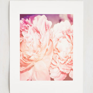 Peonies and Thank You Print  - 11 x 14""