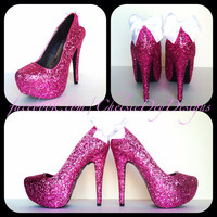 Princess Bride Glitter High Heels