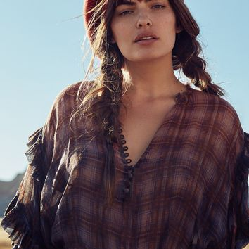 Free People FP One Magda Plaid Blouse