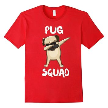 dabbing pug Squad t shirt cute Funny Dog pug shirt dab dance