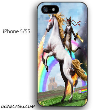 cat ride unicorn iPhone 5 / 5S Case