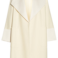 Adam Lippes - Satin-trimmed wool-blend coat