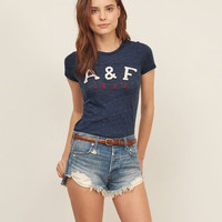 Applique Heritage Logo Graphic Tee