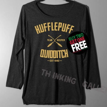 Hufflepuff Quidditch Shirt Long Sleeve TShirt T Shirt - Size S M L