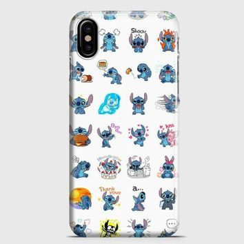 Lilo And Stitch Pattern iPhone X Case | casescraft
