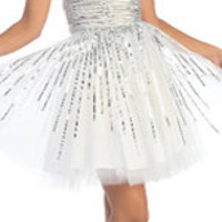 2012 Homecoming Dresses Sunburst Sequin Tulle Prom Dress - Sz. XS-2X - Unique Vintage - Prom dresses, retro dresses, retro swimsuits.