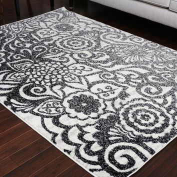 5405 Gray Contemporary Area Rugs