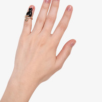 Black Cat Fingertip Ring