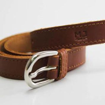 belt MJ leather genuine woman - women - handmade -
