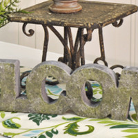 Welcome Stone Art Sign
